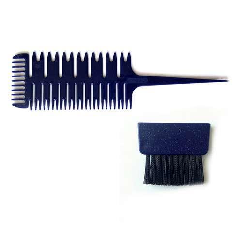 Melírovací hřeben s přídavným štětcem. Fantastický melírovací hřeben, pomocí kterého je možné velmi jednoduše oddělit vlasy na melír, a to buď na jemné proužky, nebo na silnější pruhy. NewFairLady